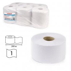 Бумага туалетная ЛАЙМА УНИВЕРСАЛ Система T2 1-слойная 12 рулонов по 200 метров, отбеленная, 124546