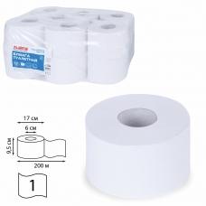 Бумага туалетная 200 м, LAIMA Т2, 'UNIVERSAL WHITE', 1-слойная, цвет белый, КОМПЛЕКТ 12 рулонов, 111335