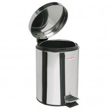 Ведро-контейнер для мусора урна с педалью ЛАЙМА 'Classic', 3 л, зеркальное, нержавеющая сталь, со съемным внутренним ведром, 604942