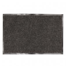 Коврик входной ворсовый влаго-грязезащитный ЛАЙМА, 90х120 см, ребристый, толщина 7 мм, черный, 602874