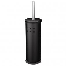 Ерш для унитаза ЛАЙМА, с подставкой, металл, черный, глянцевый, 604960