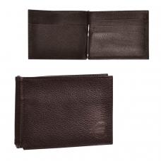 Зажим для купюр BEFLER 'Грейд', натуральная кожа, тиснение, 120х86 мм, коричневый, Z.9.-9