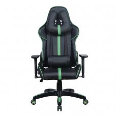 Кресло компьютерное BRABIX 'GT Carbon GM-120', две подушки, экокожа, черное/зеленое, 531929
