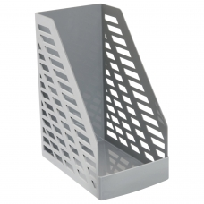 Лоток вертикальный для бумаг, увеличенная ширина 250х160х300 мм, СТАММ 'XXL', серый, ЛТ900