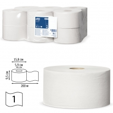 Бумага туалетная 200 м, TORK Система Т2, комплект 12 штук, Universal, 120197