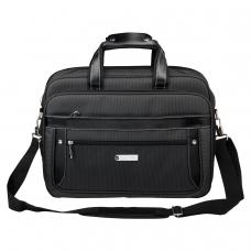 Сумка деловая BRAUBERG 'Carbon', 31х41х13 см, отделение для планшета и ноутбука 15,6', ткань, графит, 240509