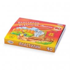 Пластилин классический ГАММА 'Мультики', 10 цветов, 200 г, со стеком, картонная упаковка, 280017, 281017