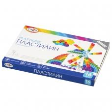 Пластилин классический ГАММА 'Классический', 16 цветов, 320 г, со стеком, картонная упаковка, 281034
