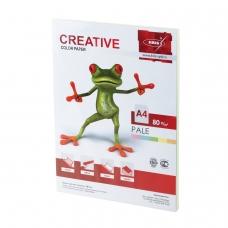 Бумага CREATIVE color Креатив, А4, 80 г/м2, 100 л. 5 цв.х20 л., цветная пастель, БПpr-100r