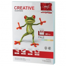 Бумага CREATIVE color Креатив, А4, 80 г/м2, 250 л. 5 цв. х 50 л., цветная пастель, БПpr-250r