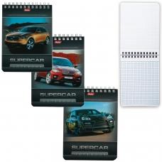 Блокнот А6, 40 л., гребень, лакированная обложка, HATBER, 'Машины', 110х145 мм, 40Б6B1гр, В12284