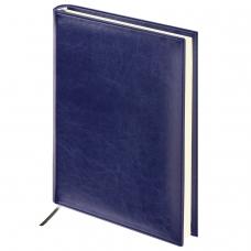 Ежедневник BRAUBERG недатированный, А5, 138х213 мм, 'Imperial', под гладкую кожу, 160 л., темно-синий, кремовый блок, 123413