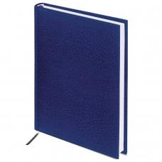 Ежедневник BRAUBERG недатированный, А5, 138х213 мм, 'Profile', под фактурную кожу, 160 л., синий, 123426
