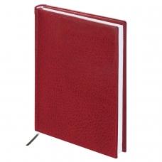 Ежедневник BRAUBERG недатированный, А5, 138х213 мм, 'Profile', под фактурную кожу, 160 л., бордовый, 123427