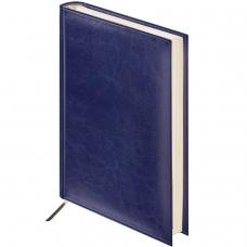 Ежедневник BRAUBERG недатированный, А6, 100х150 мм, 'Imperial', под гладкую кожу, 160 л., темно-синий, кремовый блок, 124984