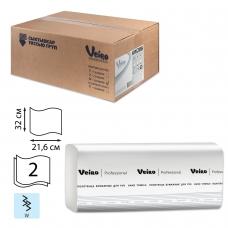 Полотенца бумажные 150 шт., VEIRO Система H2, комплект 21 шт., Comfort, 2-слойные, белые, 32х21,6, W, KW208