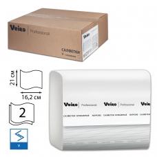 Салфетки VEIRO Professional Система N4, Comfort, комплект 15 шт. х 220 шт., 2-слойные, белые, 21х16,2, V, NV211