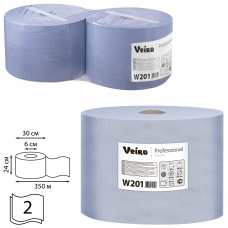 Бумага протирочная VEIRO Система W1, комплект 2 шт., 1000 листов в рулоне, 24х35 см, 2-слойная, Comfort, W201