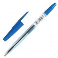 Ручка шариковая масляная СТАММ 'Офис', СИНЯЯ, корпус тонированный синий, узел 1,2 мм, линия письма 1 мм, ОФ999