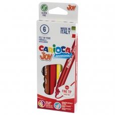 Фломастеры CARIOCA 'Joy', 6 цветов, суперсмываемые, вентилируемый колпачок, картонная коробка, 40613