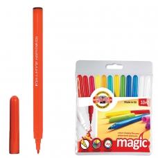Фломастеры KOH-I-NOOR 'Magic', 12 штук, 10 цветов+2 стирающих, смываемые, пластиковая упаковка, подвес, 771612AB01TE