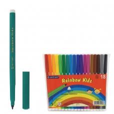 Фломастеры CENTROPEN 'Rainbow Kids', 18 цветов, смываемые, эргономичные, вентилируемый колпачок, 7550/18