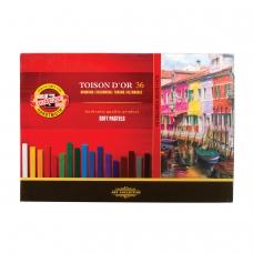 Пастель мягкая художественная KOH-I-NOOR 'Toison D'or', 36 цвета, квадратное сечение, 8585036001KS