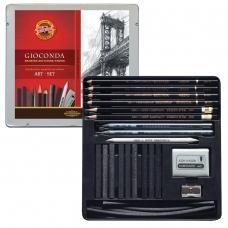 Набор художественный KOH-I-NOOR 'Gioconda', 23 предмета, металлическая коробка, 8898000001PL
