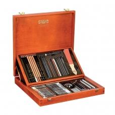 Набор художественный KOH-I-NOOR 'Gioconda', 52 предмета, деревянный ящик, 8896000001DK