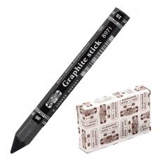 Карандаш чернографитный утолщенный KOH-I-NOOR, 1 шт., 'Graphite stick', без дерева, 2B, грифель 10,5 мм, картонная упаковка, 897102B005KK