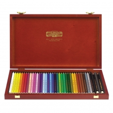 Карандаши цветные KOH-I-NOOR 'Polycolor', 36 цветов, грифель 3,8 мм, заточенные, деревянный ящик, 3895036001DK
