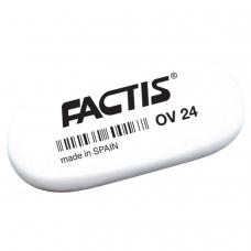 Резинка стирательная FACTIS OV 24 Испания, овальная, 49х24х9 мм, мягкая, синтетический каучук, CMFOV24