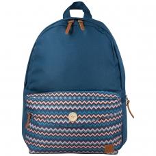 Рюкзак BRAUBERG, универсальный, сити-формат, синий, карман с пуговицей, 20 литров, 40х28х12 см, 225352