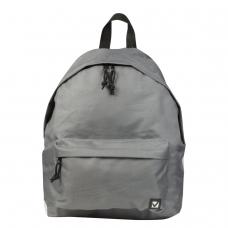 Рюкзак BRAUBERG, универсальный, сити-формат, один тон, серый, 20 литров, 41х32х14 см, 225380