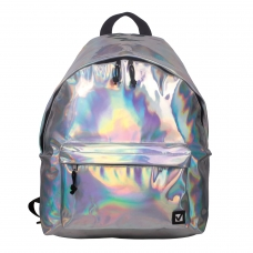 Рюкзак BRAUBERG универсальный, сити-формат, цвет-серебро, 'Винтаж', 20 литров, 41х32х14 см, 226421