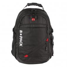 Рюкзак B-PACK 'S-01' БИ-ПАК универсальный, с отделением для ноутбука, влагостойкий, черный, 47х32х20 см, 226947