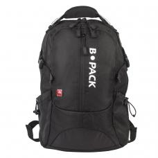 Рюкзак B-PACK 'S-02' БИ-ПАК универсальный, с отделением для ноутбука, усиленная ручка, черный, 47х31х16 см, 226948