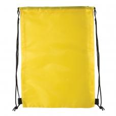 Сумка для обуви BRAUBERG, прочная, на шнурке, желтая, 42x33 см, 227142