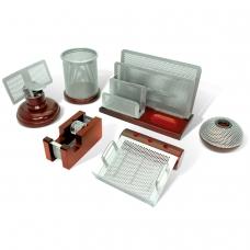 Набор настольный GALANT 'Wood&Metal', 6 предметов красное дерево, никелированный металл, 230876