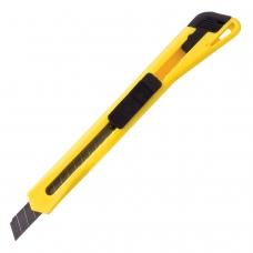 Нож универсальный 9 мм BRAUBERG, фиксатор, цвет корпуса ассорти, упаковка с европодвесом, 230914