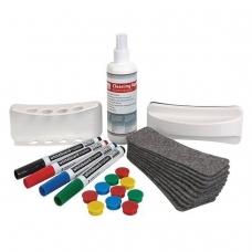 Набор для магнитно-маркерной доски '2х3' 'Дважды три' 4 маркера, держатель, чистящее средство, стиратель, салфетки, AS111