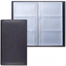 Визитница трехрядная BRAUBERG 'Favorite', на 144 визитки, под фактурную кожу, черная, 231655
