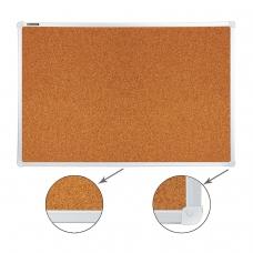 Доска пробковая BRAUBERG для объявлений, 60х90 см, улучшенная алюминиевая рамка, 231712
