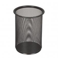 Подставка-органайзер BRAUBERG 'Germanium', металлическая, круглое основание, 158х120 мм, черная, 231966