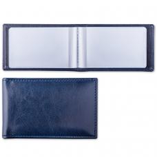 Визитница однорядная BRAUBERG 'Imperial', на 20 визиток, под гладкую кожу, темно-синяя, 232060