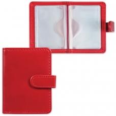 Визитница/кредитница однорядная GALANT 'Ritter', на 24 карты, под гладкую кожу, застежка, бордовая, 235399