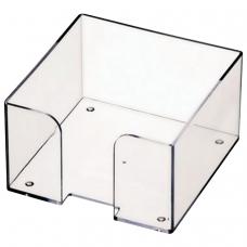 Подставка для бумажного блока СТАММ пластиковая, 90х90х50 мм, прозрачная, ПЛ61