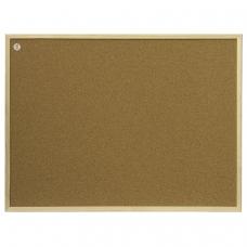 Доска пробковая 100x200 см, коричневая рамка из МДФ, OFFICE, '2х3' Польша, TC1020