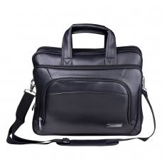 Сумка деловая для офиса и учебы BRAUBERG 'Favorite', отделение для планшета и ноутбука 15,6', 32х41х12см, кожзам, черная, 240399