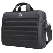 Сумка деловая для офиса и учебы BRAUBERG 'Patrol', отделение для планшета 9,7' и ноутбука 15,6', 29х41х6 см, ткань, черная, 240504